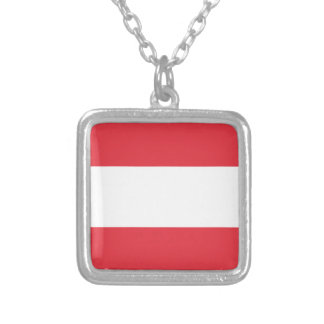 Austrian Flag Silver Plated Necklace