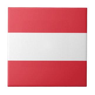 Austrian Flag Small Square Tile