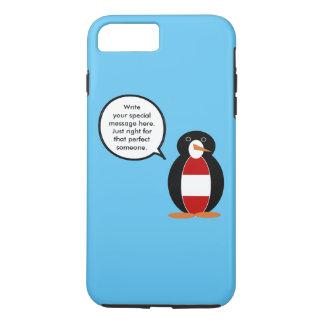 Austrian Flag Talking Penguin iPhone 7 Plus Case
