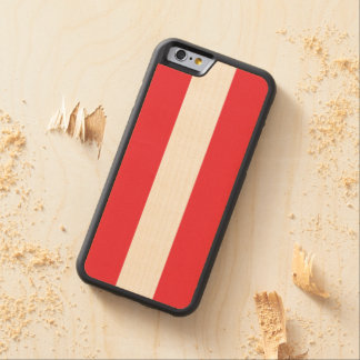 Austrian flag carved® maple iPhone 6 bumper