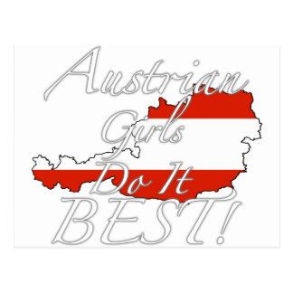 Austrian Girls Do It Best! Postcard