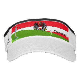 Austrian golfer visor