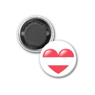 Austrian heart magnet - Österreichisch Herz