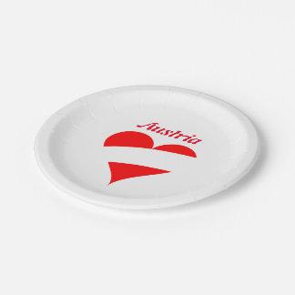 Austrian heart paper plate