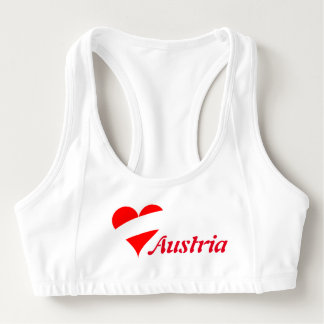 Austrian heart sports bra