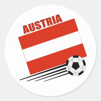 Austrian Soccer Team Classic Round Sticker