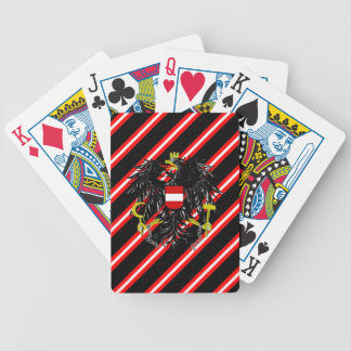 Austrian stripes flag bicycle playing cards
