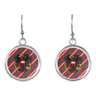 Austrian stripes flag earrings
