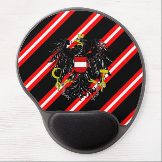 Austrian stripes flag gel mouse pad