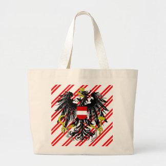 Austrian stripes flag large tote bag