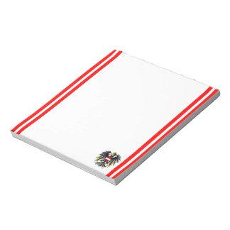 Austrian stripes flag notepad