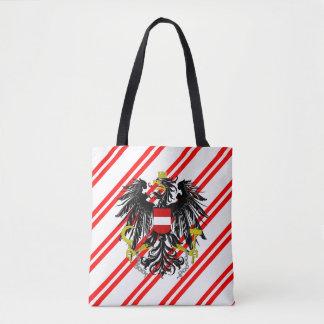 Austrian stripes flag tote bag