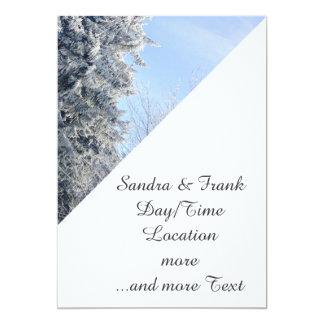 "Austrian Winter Landscape 5"" X 7"" Invitation Card"