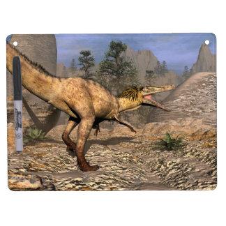 Austroraptor dinosaur dry erase board with key ring holder