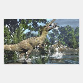 Austroraptor dinosaur rectangular sticker