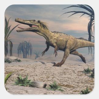 Austroraptor dinosaur square sticker