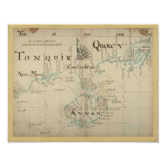 Authentic 1690 Pirate Map Print