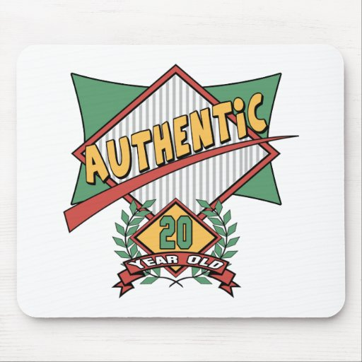 Authentic 20th Birthday Gifts Mousepad