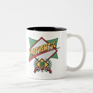 Authentic 90th Birthday Gifts Two-Tone Coffee Mug