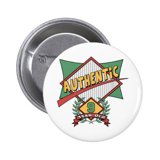 Authentic 9th Birthday Gifts Buttons