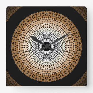 Authentic Aboriginal 'Ancestral Lands' Wall Clock