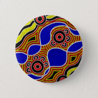 Authentic Aboriginal Art 6 Cm Round Badge