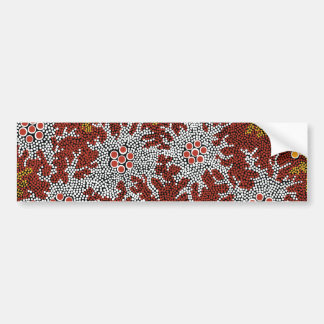 Authentic Aboriginal Art - Bushland Dreaming Bumper Sticker