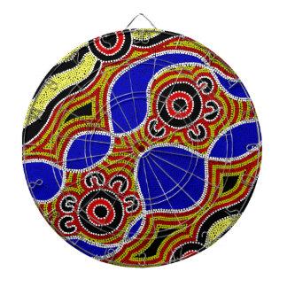 Authentic Aboriginal Art Dartboard