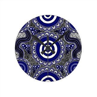 Authentic Aboriginal Art - Gathering Round Clock