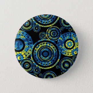 Authentic Aboriginal Art - Paisley Design 6 Cm Round Badge
