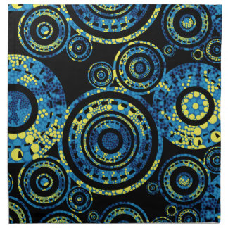 Authentic Aboriginal Art - Paisley Design Napkin