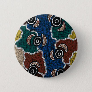 Authentic Aboriginal Art - Riverside Dreaming 6 Cm Round Badge