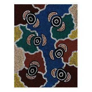 Authentic Aboriginal Art - Riverside Dreaming Postcard