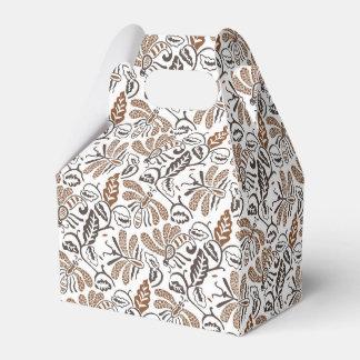 Authentic Batik Walang White Brown Pattern Favour Box