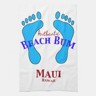 Authentic Beach Bum Maui Hawaii Tea Towel