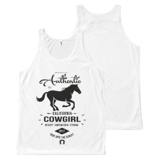Authentic California Cowgirl All-Over Print Singlet