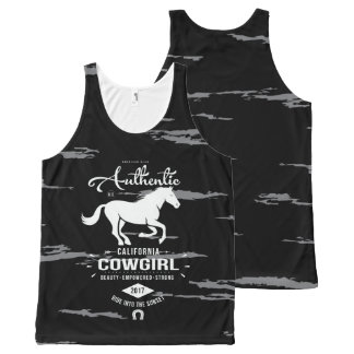 Authentic California Cowgirl Tank All-Over Print Tank Top