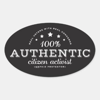 Authentic Citizen Activist Sticker
