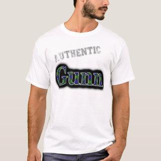 Authentic Clan Gunn Tartan Name Design T-Shirt