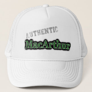 Authentic Clan MacArthur Scottish Tartan Name Trucker Hat