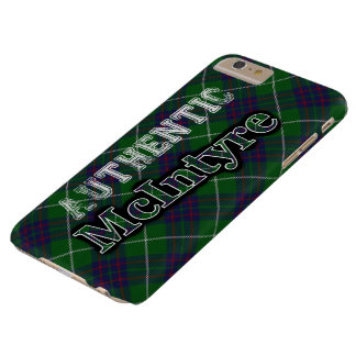 Authentic Clan McIntyre Scottish Tartan Design Barely There iPhone 6 Plus Case