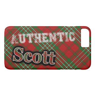 Authentic Clan Scott Scottish Tartan Design iPhone 8 Plus/7 Plus Case