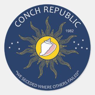 Authentic Conch Republic AVOID FAKES Classic Round Sticker