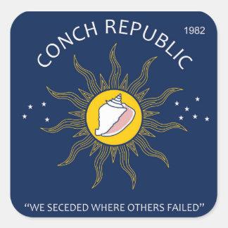 Authentic Conch Republic AVOID FAKES Square Sticker