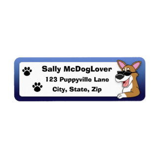 Authentic Cool Pembroke Welsh Corgi Return Address Label