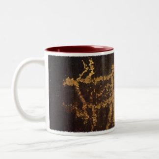 Authentic Elk Petroglyph Two-Tone Coffee Mug
