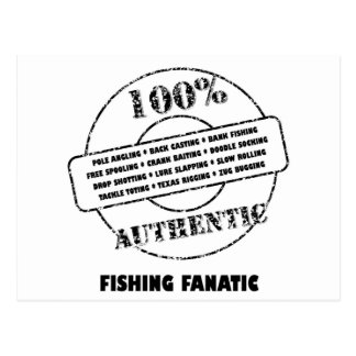 Authentic Fishing Fanatic Postcard
