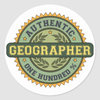 Authentic Geographer Classic Round Sticker