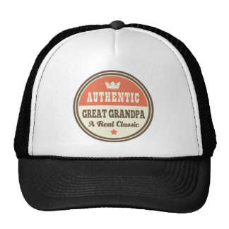 Authentic Great Grandpa A Real Classic Mesh Hats