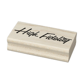 Authentic High Fidelity Retro Rubber Art Stamp